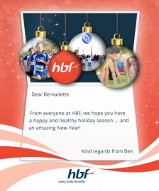 Custom Corporate eCards eCards for Business: HBF Christmas