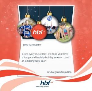 Custom Corporate eCards eCards for Business: HBF Christmas