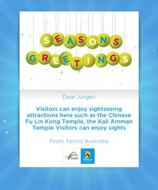 Holiday eCards Gallery Custom eCards for Business: Tennis Christmas