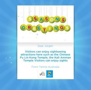 Holiday eCards Gallery Custom eCards for Business: Tennis Christmas