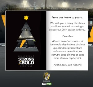 Custom Corporate eCards eCards for Business: Tigers Christmas