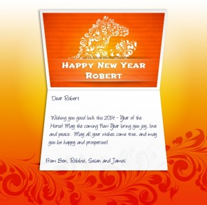 Chinese New Year eCards for Business: Horse Banner