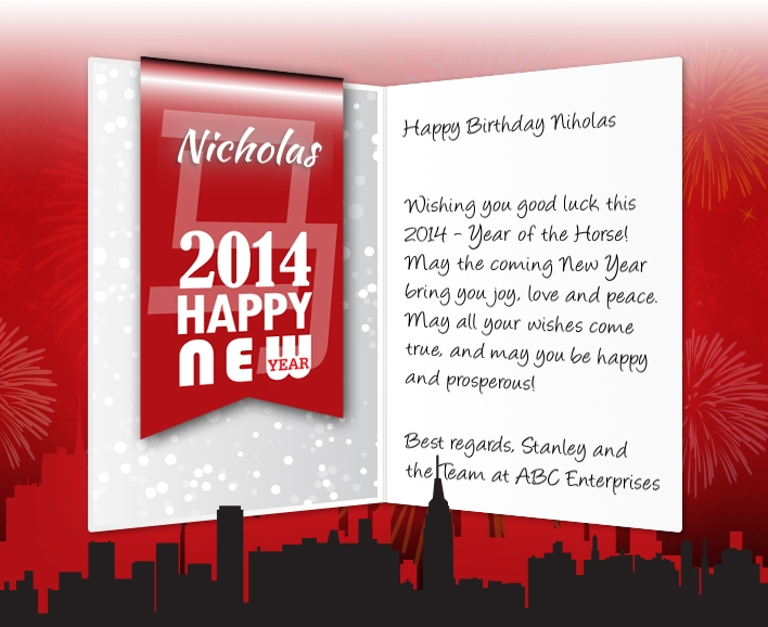 Chinese New Year eCards for Business: New Year 2014