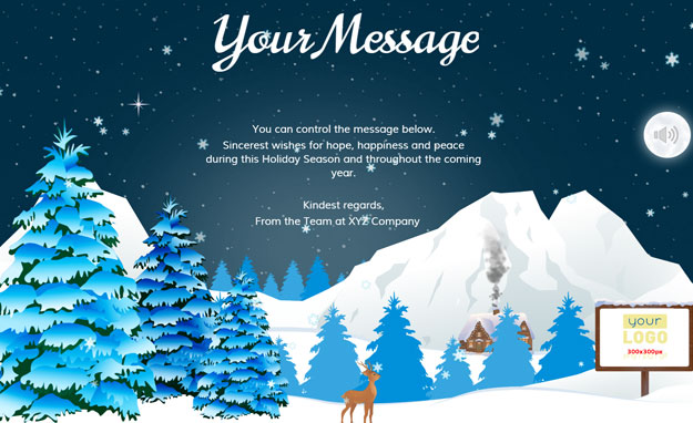 Corporate Holiday eCards for Business with logo 2016: Animated Mountains
