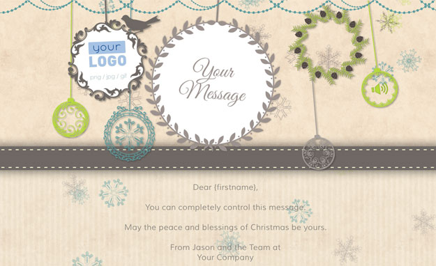 Corporate Holiday eCards for Business with logo 2016: Animated Decorations