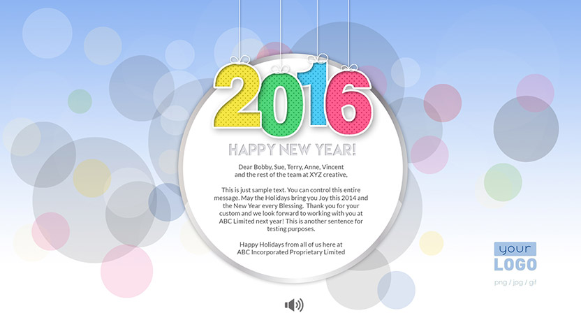 New Year Corporate New Year eCard 2015 - Light