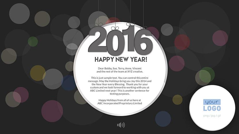 New Year Corporate New Year eCard 2015 - Dark