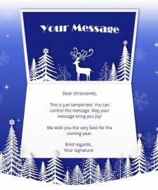 Static Christmas eCards for Business: Deer Snow Scene