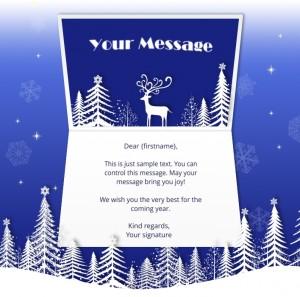 Static Christmas eCards for Business: Deer Snow Scene