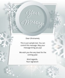 Static Christmas eCards for Business: White Snowflake