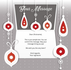 Static Christmas eCards for Business: Vintage Decorations