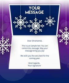 Static Christmas eCards for Business: Purple Snowflake