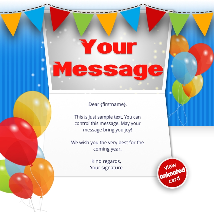 Interactive Thank You/Anniverdary/Employee Recognition eCards for Business: Animated Thank You Balloons
