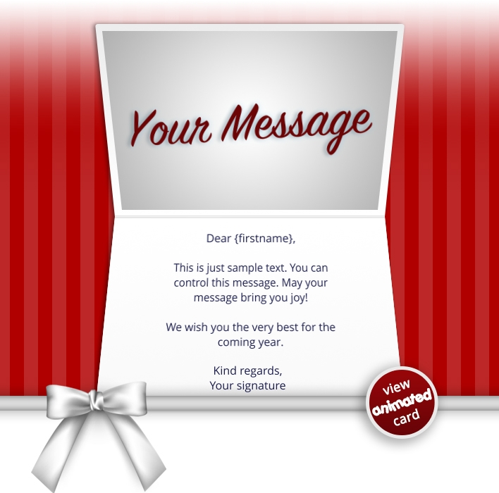 Interactive Thank You/Anniverdary/Employee Recognition eCards for Business: Animated Thank You Bow Red