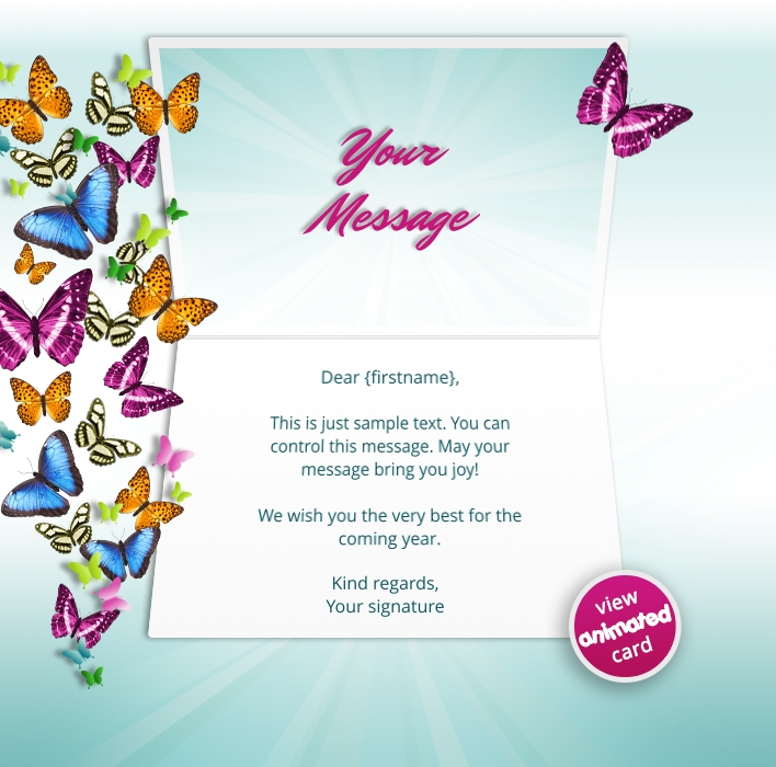 Interactive Thank You/Anniverdary/Employee Recognition eCards for Business: Animated Thank You Butterflies