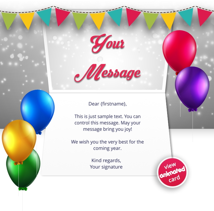 Interactive Thank You/Anniverdary/Employee Recognition eCards for Business: Animated Thank You Flags