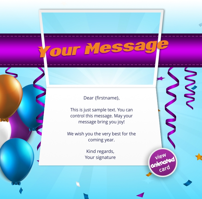 Interactive Thank You/Anniverdary/Employee Recognition eCards for Business: Animated Thank You Streamers