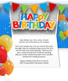 Static Company Birthday eCards eCards for Business: Birthday Balloons