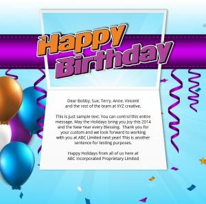 Static Company Birthday eCards eCards for Business: Birthday Streamers