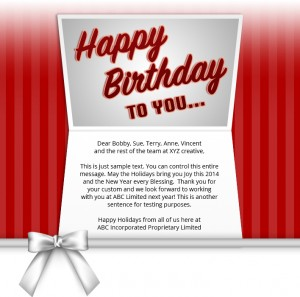 Static Company Birthday eCards eCards for Business: Birthday Bow Red