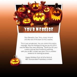 Halloween eCards for Business: Carved Pumpkins