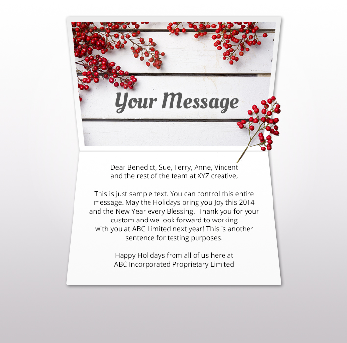 Holiday eCards Gallery Static eCards for Business: Berry Nice