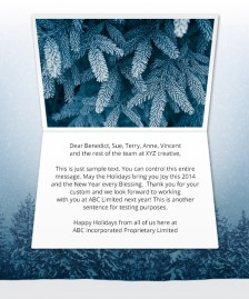 Holiday eCards Gallery Static eCards for Business: Winter is Here
