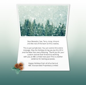 Holiday eCards Gallery Static eCards for Business: Pines and Cones