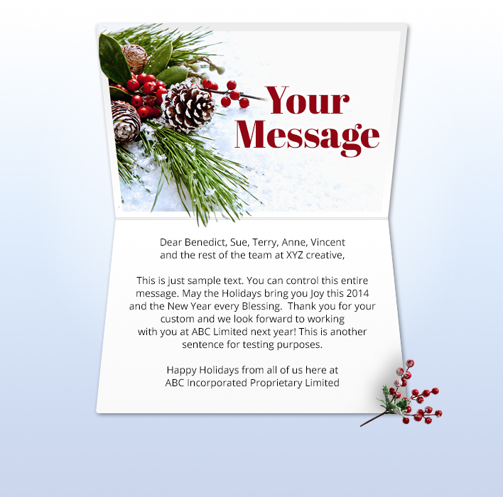 Holiday eCards Gallery Static eCards for Business: Winter Posy