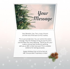 Holiday eCards Gallery Static eCards for Business: Glowing Pine