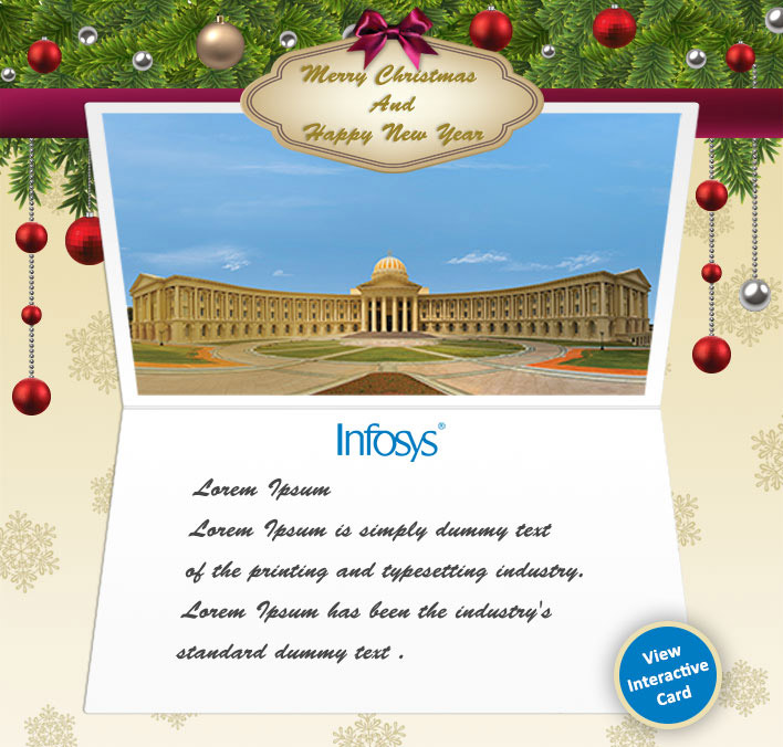 Corporate Custom eCards for Business with logo 2016: Animated Infosys Bangalore