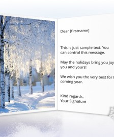 Holiday eCards Gallery Static eCards for Business: Frozen Trees