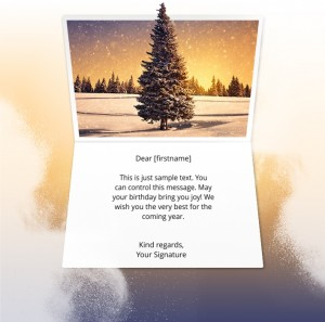 Holiday eCards Gallery Static eCards for Business: Winter Pine