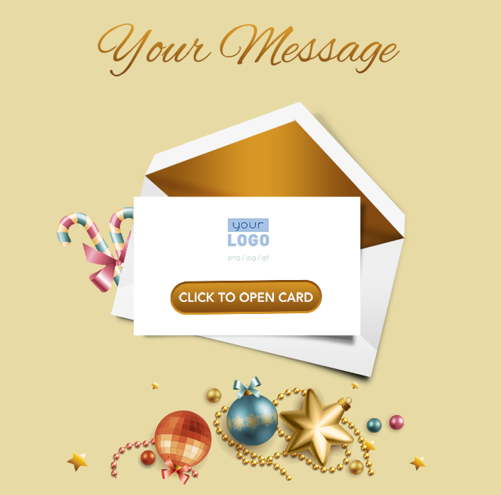 Animated Webpage eCards for Business: Animated Gold Teaser
