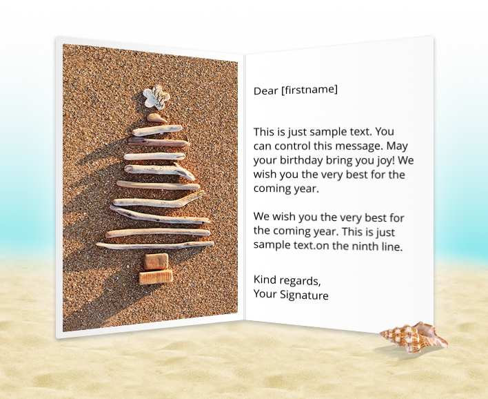 Static Christmas eCards for Business: Driftwood Tree