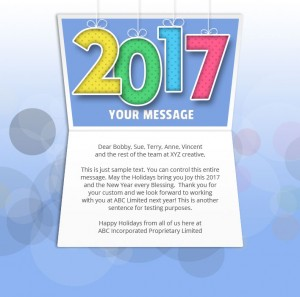 New Year Static eCard eCards for Business: Mobile Colour 2017