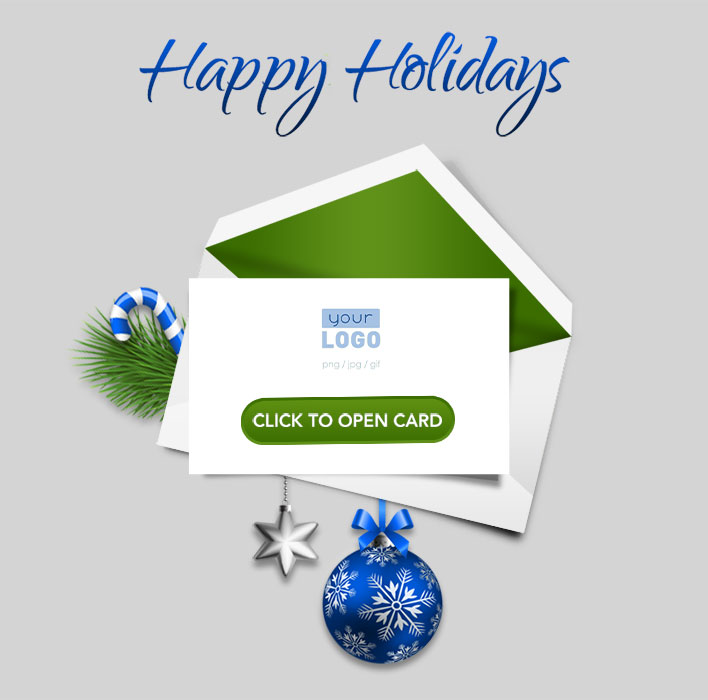 Animated Webpage eCards for Business: Animated Blue Teaser
