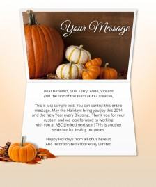 Thanksgiving eCards for Business: Naturally Pumpkins