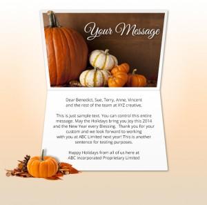 Thanksgiving eCards for Business: Naturally Pumpkins