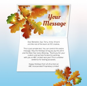 Thanksgiving eCards for Business: Joyous Daylight