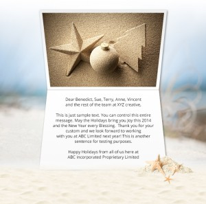 Static Christmas eCards for Business: Sand Decorations
