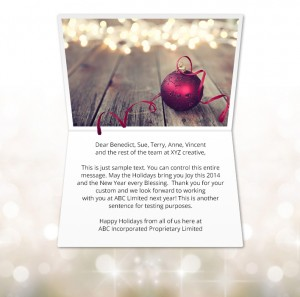 Static Christmas eCards for Business: Beautiful Bauble