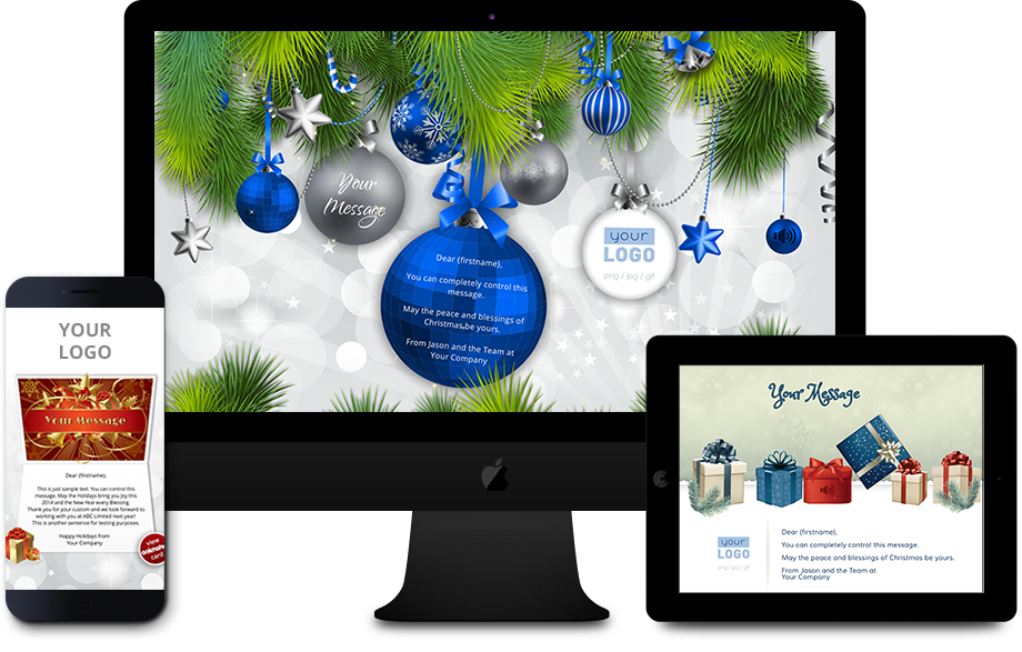 Personalised Company Xmas eCards Compatible with All Devices