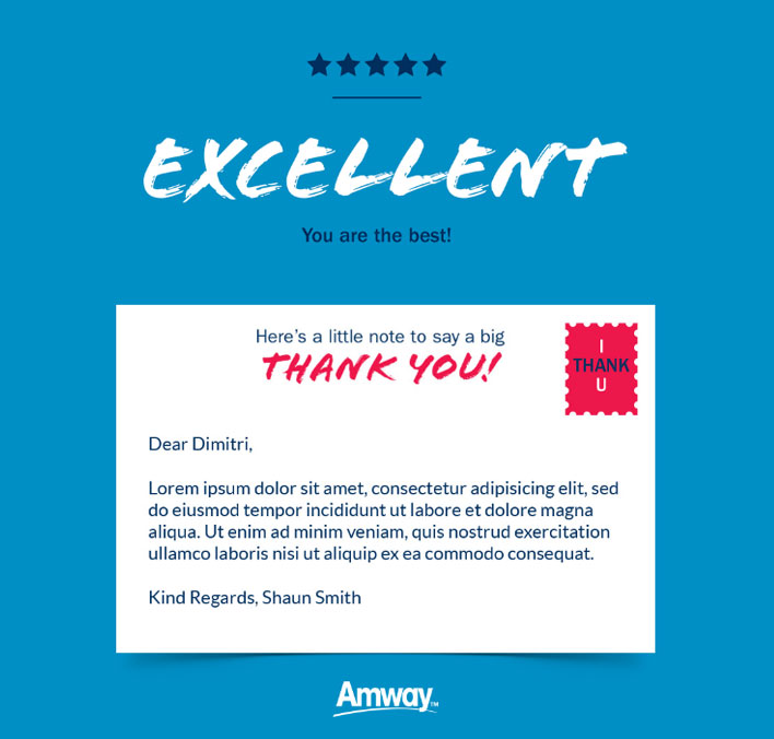 Thank You Static eCards eCards for Business: Amway Excellent