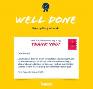Thank You Static eCards eCards for Business: Amway Well Done