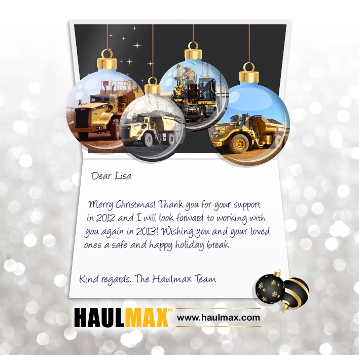 Custom Corporate eCards eCards for Business: Haulmax