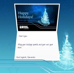 Holiday eCards Gallery Custom eCards for Business: Idaho Power
