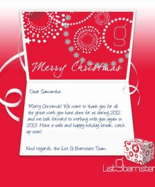 Custom Corporate eCards eCards for Business: List G Xmas Red