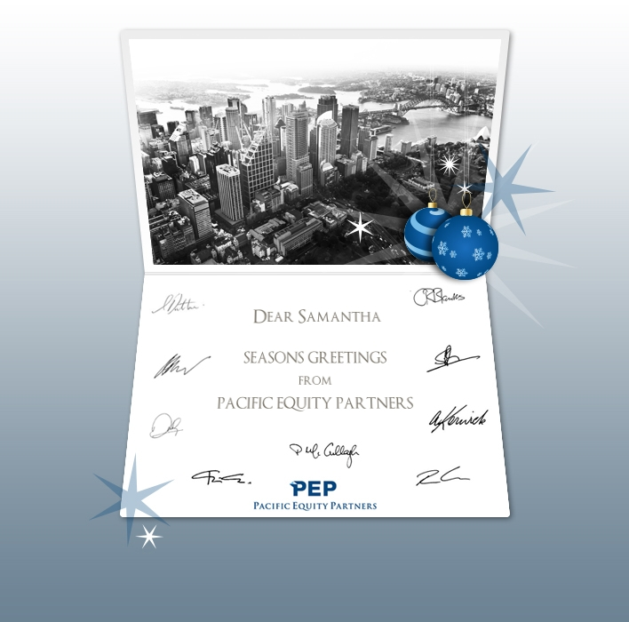 Custom Corporate eCards eCards for Business: PEP