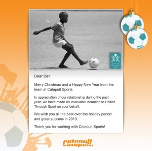 Holiday eCards Gallery Custom eCards for Business: United Through Sport